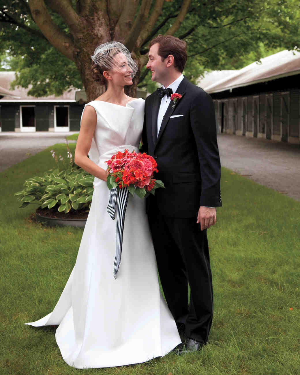 A Black-and-White Whimsical Wedding In Saratoga Springs