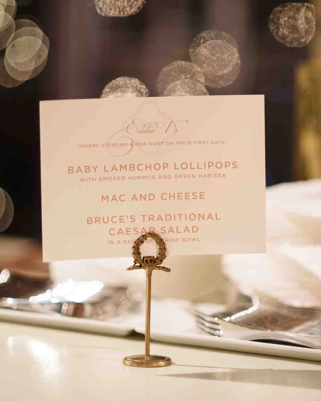 Custom Paper Menu Card