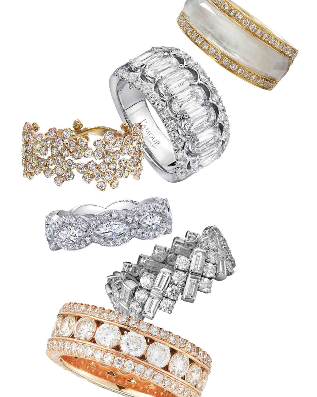 rows diamond angeles los ambar band blaze wedding wide bands bez eternity rings three