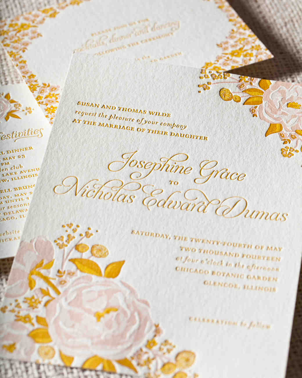 8 details to include when wording your wedding invitation martha stewart weddings - Wedding Invitation Details Card