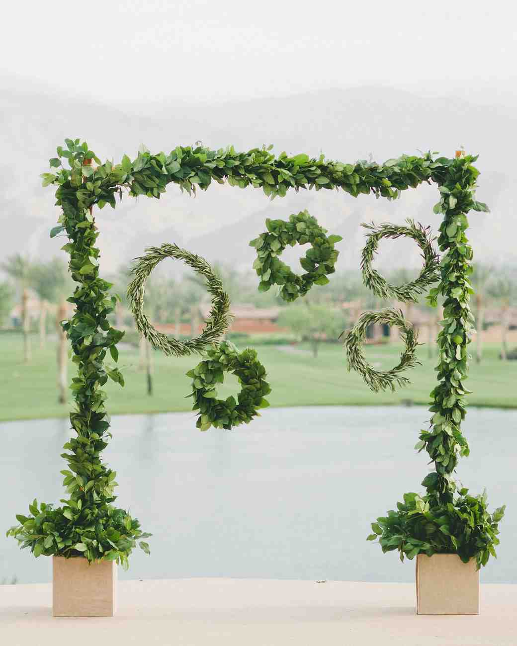 hanging hoop backdrop