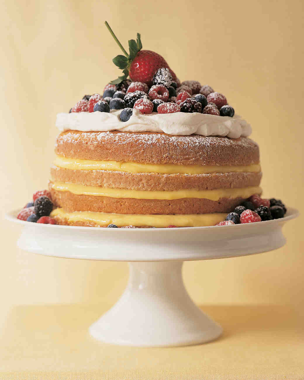 Naked Lemon Cake with Berries