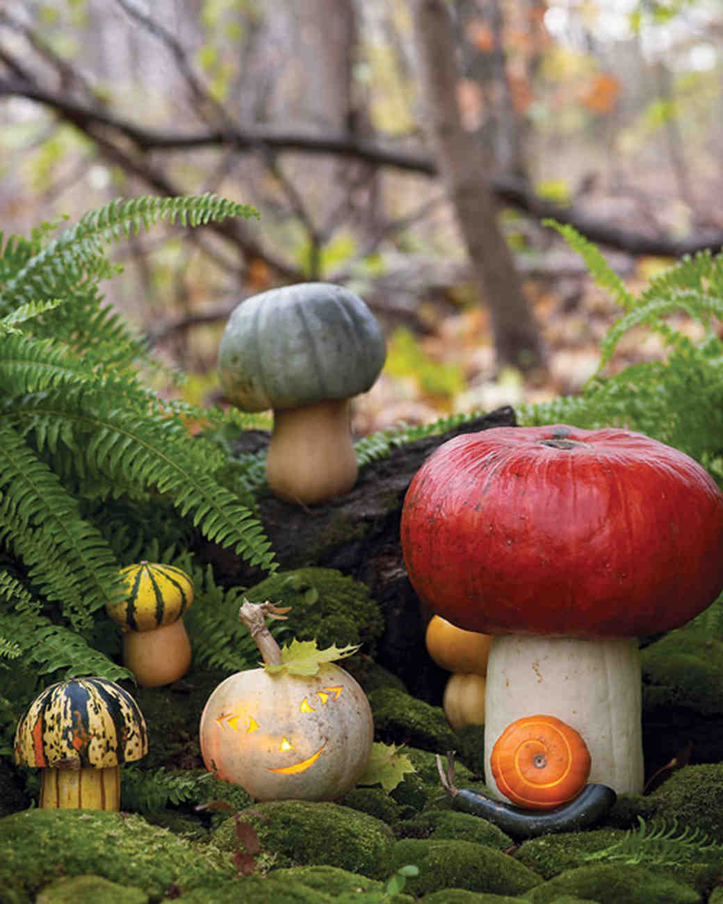 Makeshift Toadstool Pumpkins