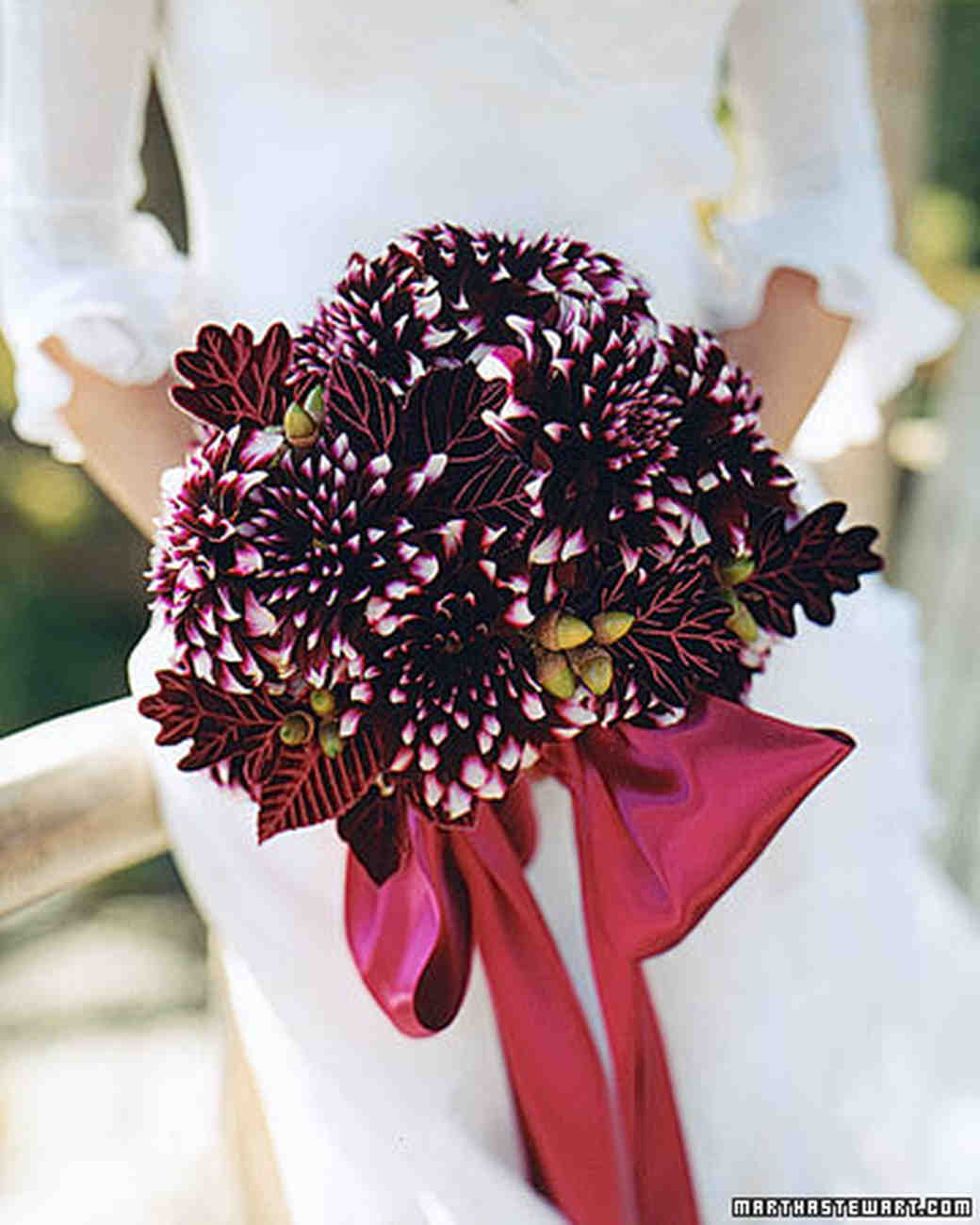 Red wedding flowers martha stewart weddings bouquet with dahlias izmirmasajfo Choice Image