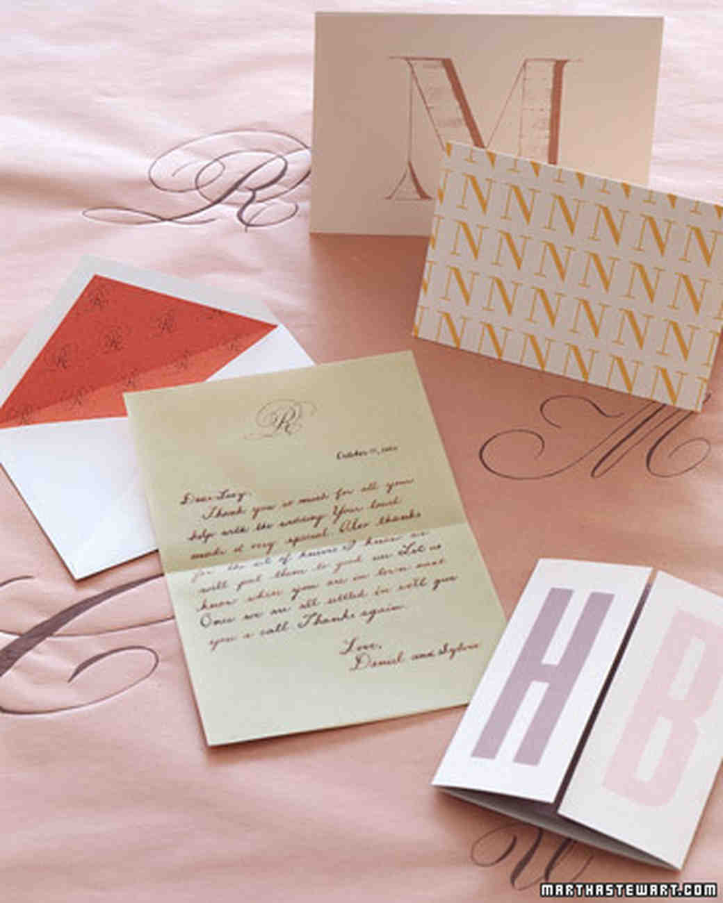 Handmade Wedding Thank You Notes Martha Stewart Weddings