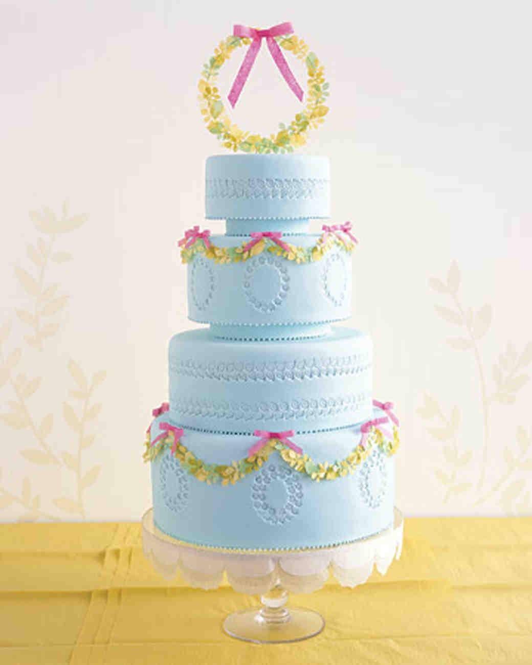 Martha stewart fondant wedding cakes