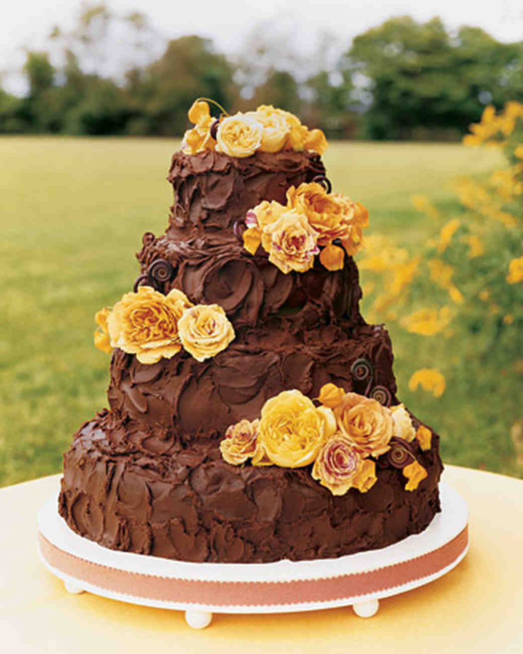 brown wedding cake brown wedding cakes martha stewart weddings 12195