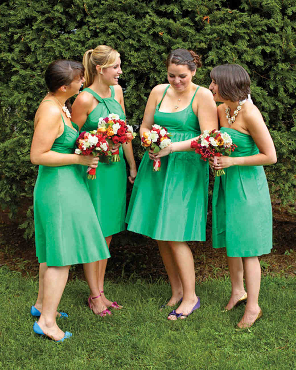 Real weddings with green ideas martha stewart weddings the bridesmaids ombrellifo Gallery