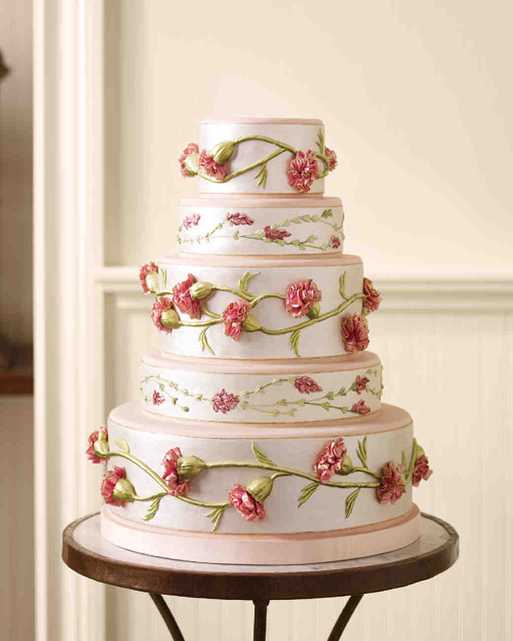 Ribbon-Inspired Wedding Cake