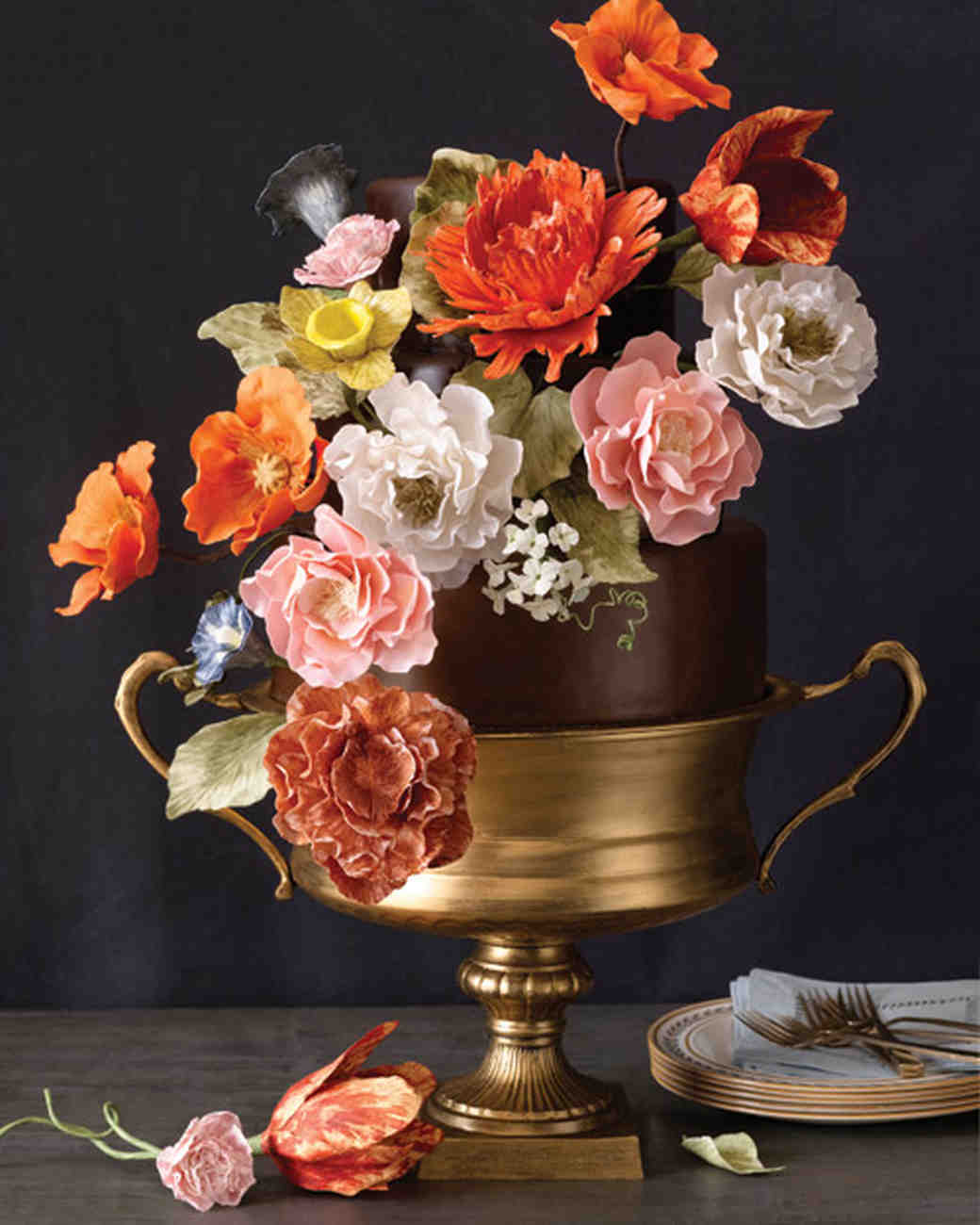 Gumpaste Flowers For Wedding Cakes: 45 Wedding Cakes With Sugar Flowers That Look Stunningly