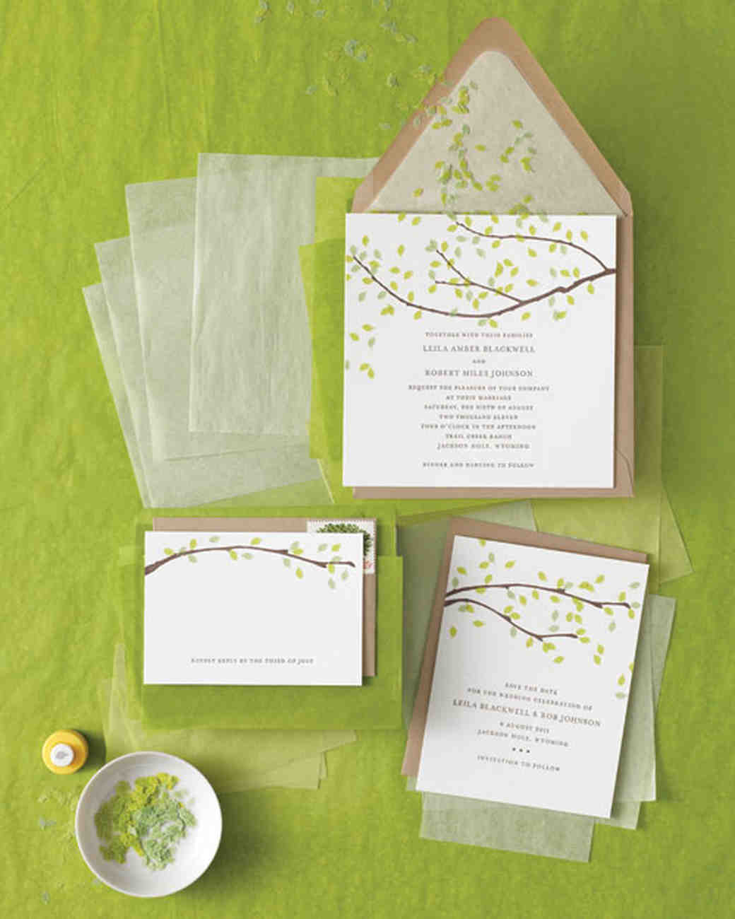 Five ways to customize your wedding invitations martha stewart get punchy stopboris Choice Image