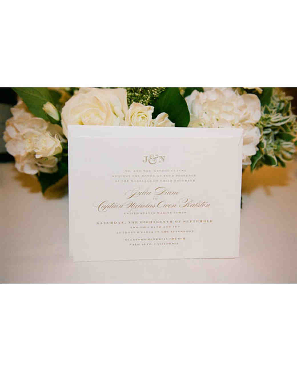 A traditional white wedding in california martha stewart weddings the invitation stopboris Image collections