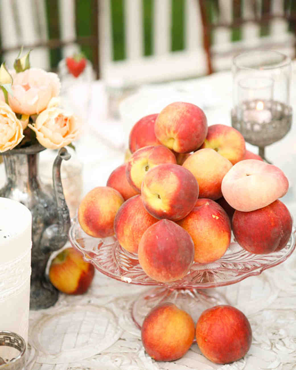 peach wedding centerpiece