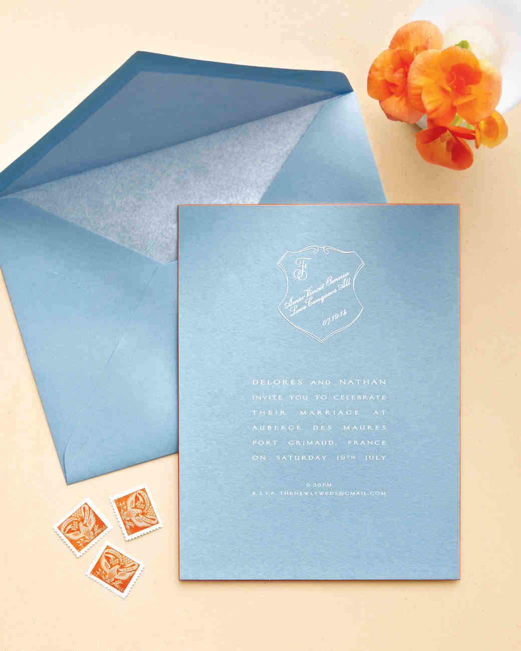 10 Reasons To Consider Cornflower Blue And Melon For Your Wedding