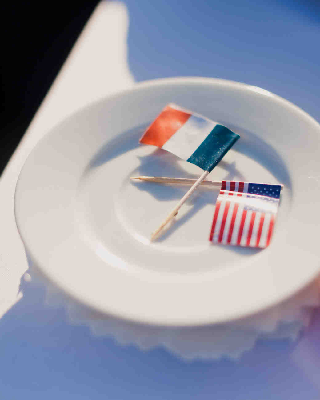 french and american flag toothpicks