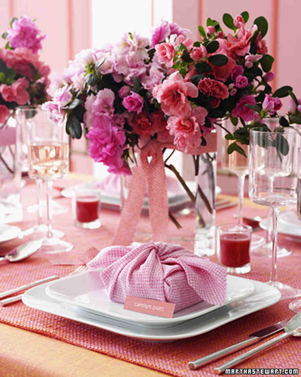 Pretty In Pink Wedding Details Martha Stewart Weddings