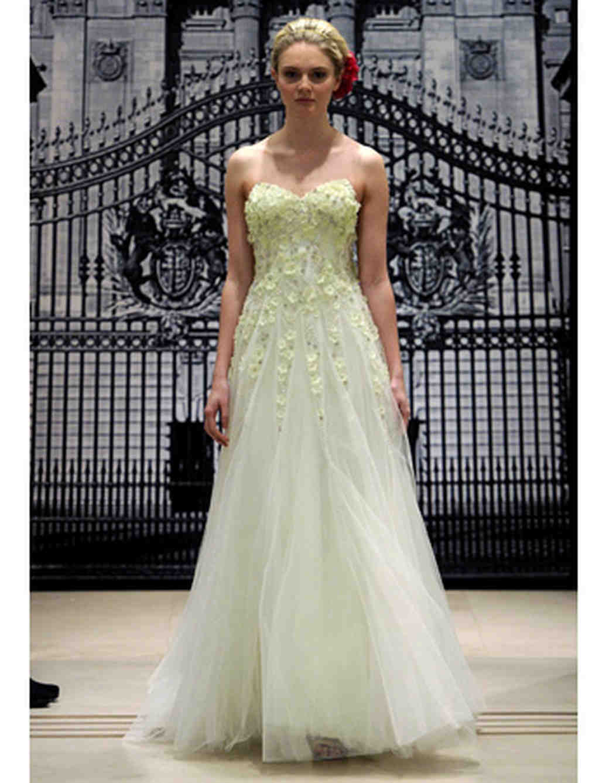 Pale colored wedding dresses