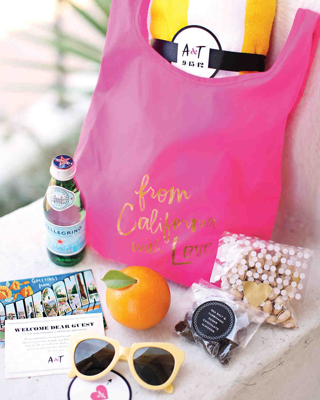 colorful welcome bag