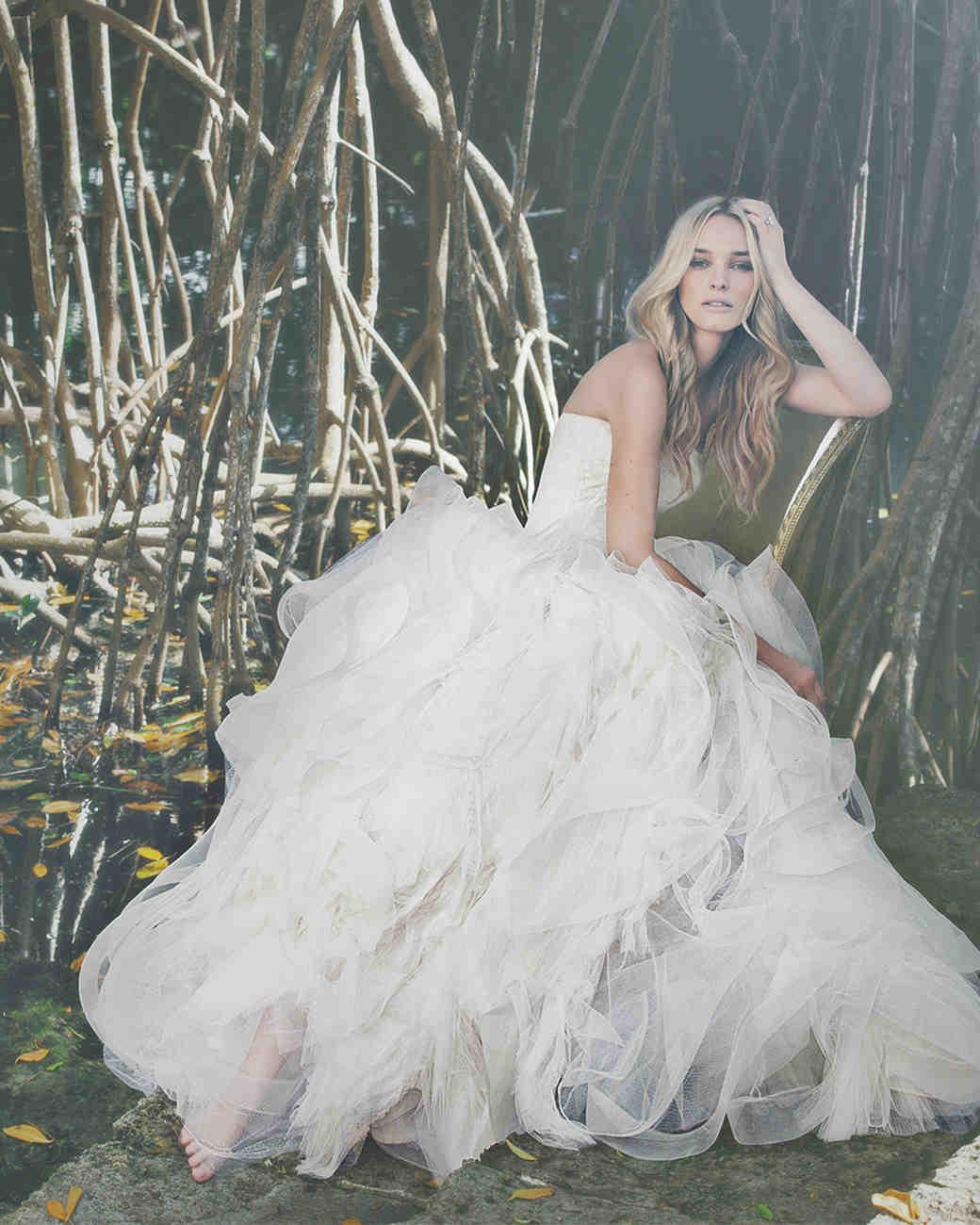 73df71e2850 White By Vera Wang Organza Wedding Dress