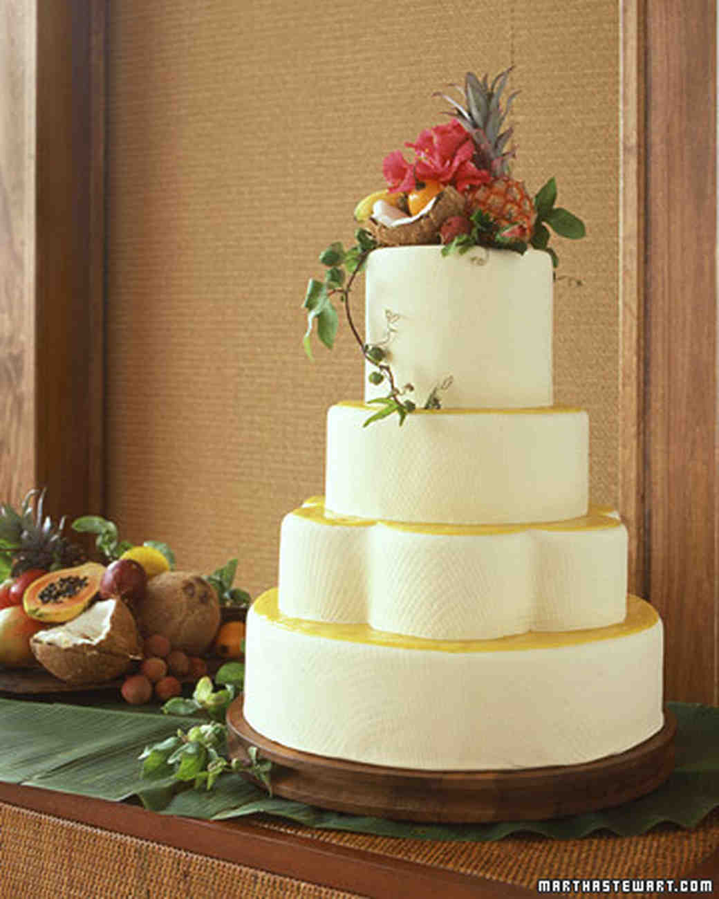Coconut Wedding Cakes | Martha Stewart Weddings