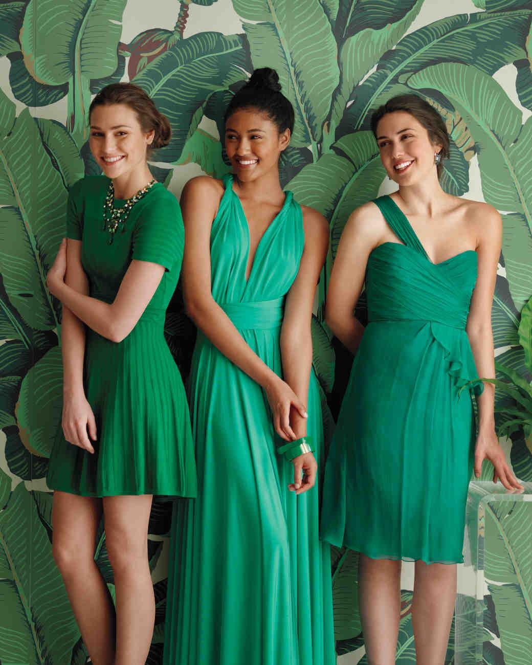 Emerald and Jade Bridesmaid Dresses