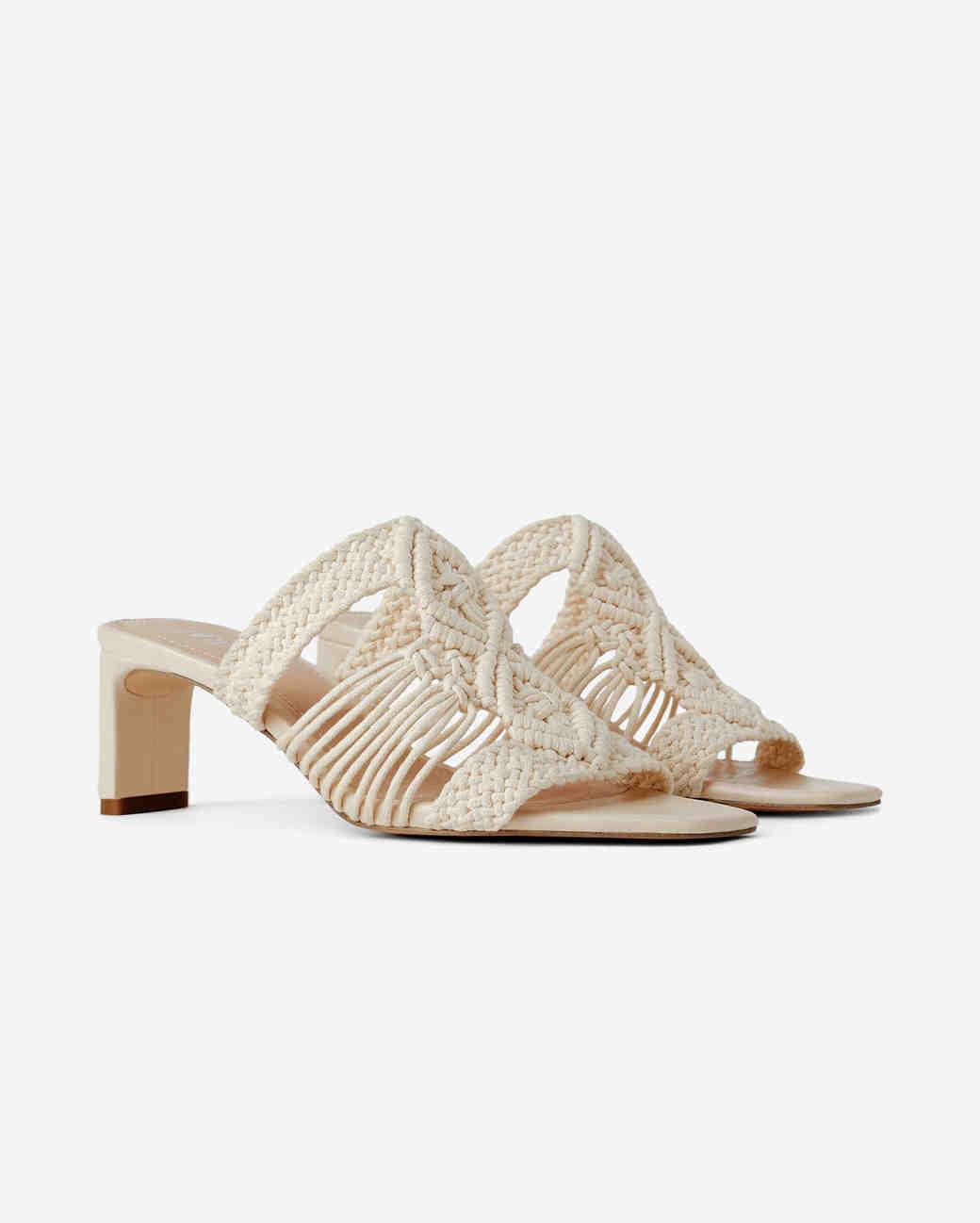 woven sandals bridesmaid shoes