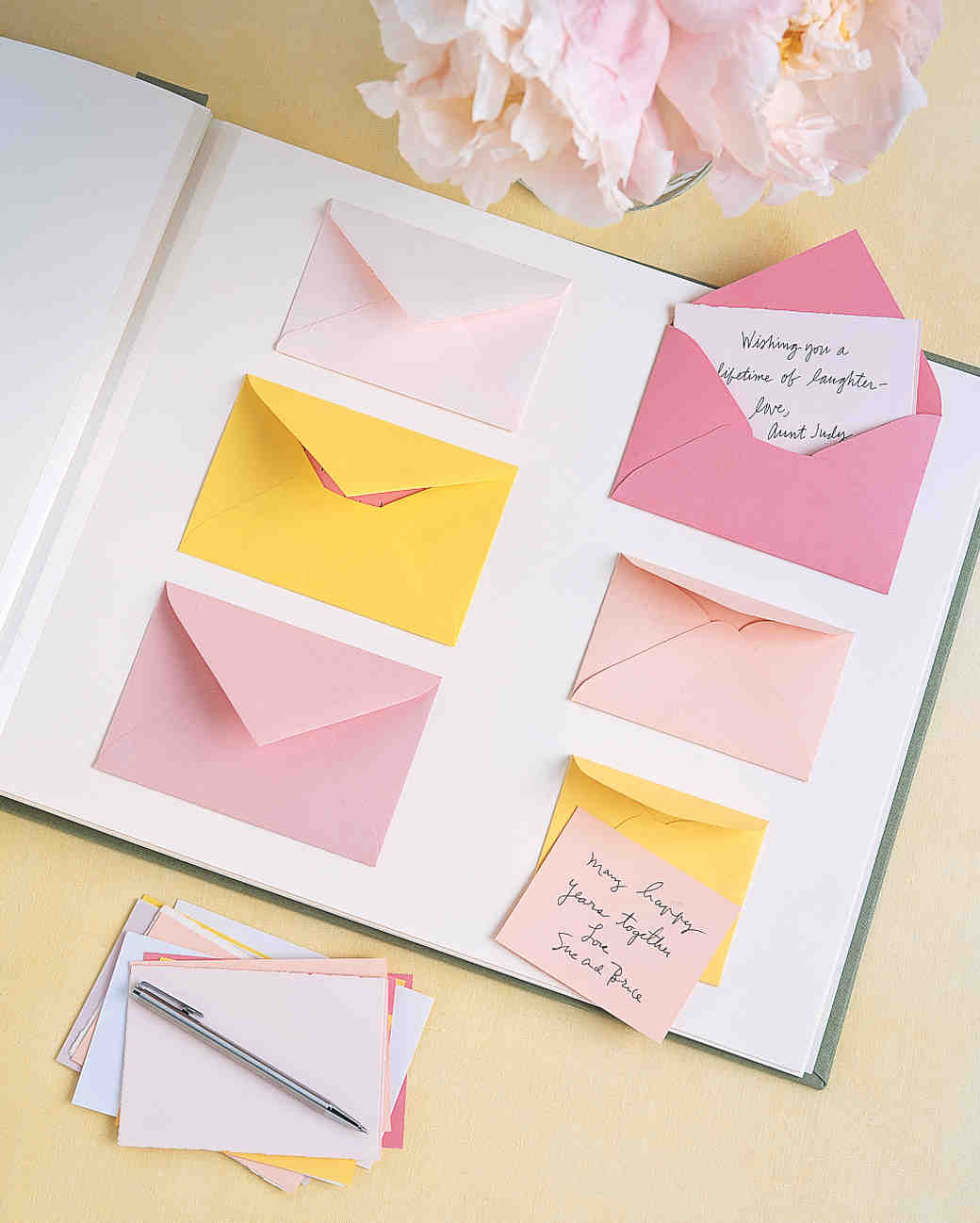 envelope wedding guest book