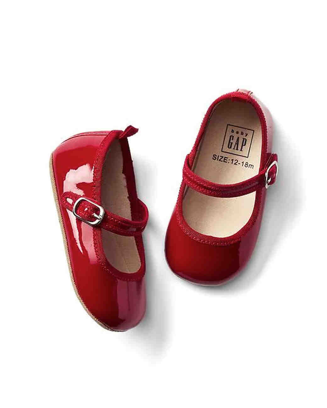 red gap flower girl shoes
