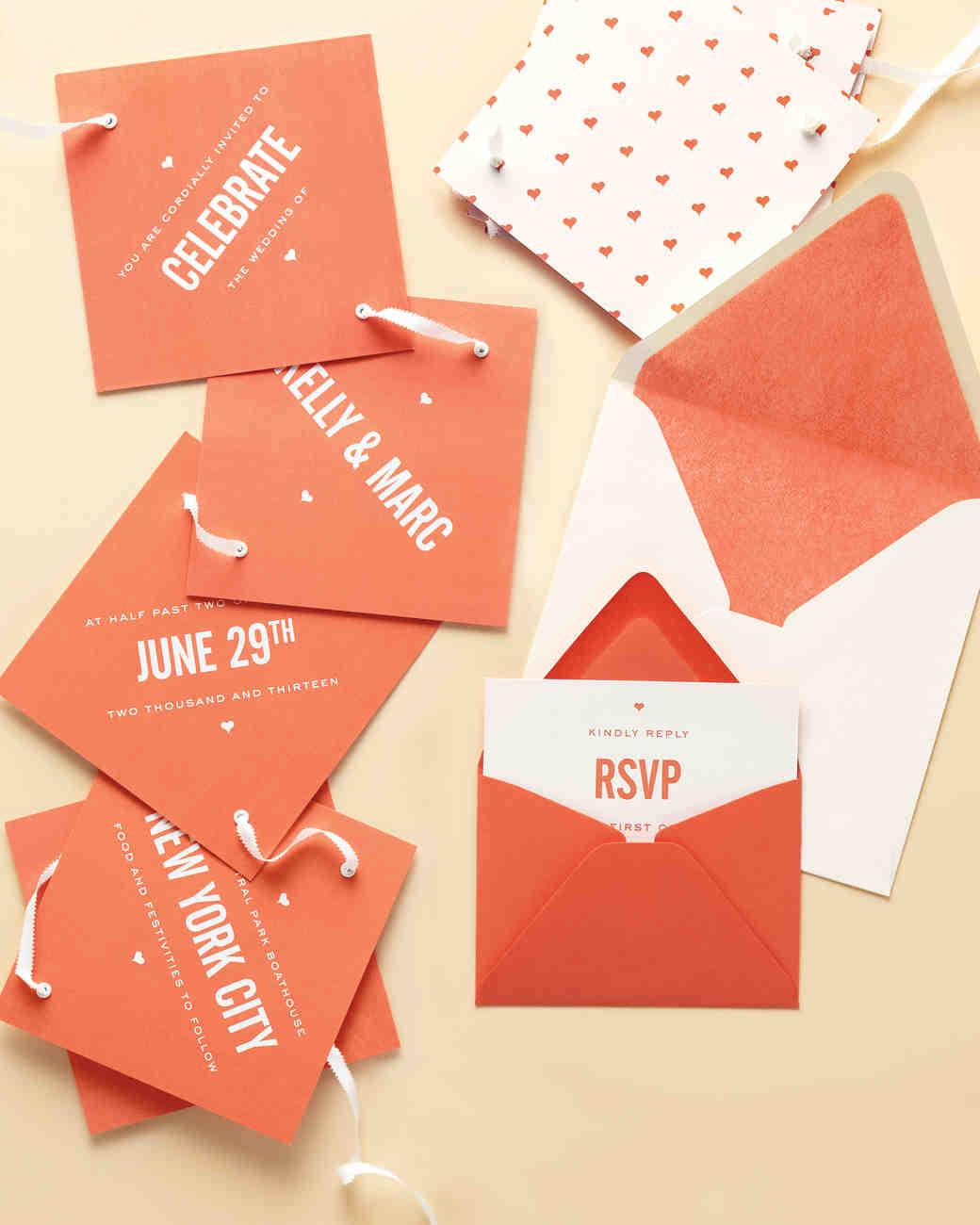 unique wedding invitations martha stewart weddings - Unique Wedding Invites