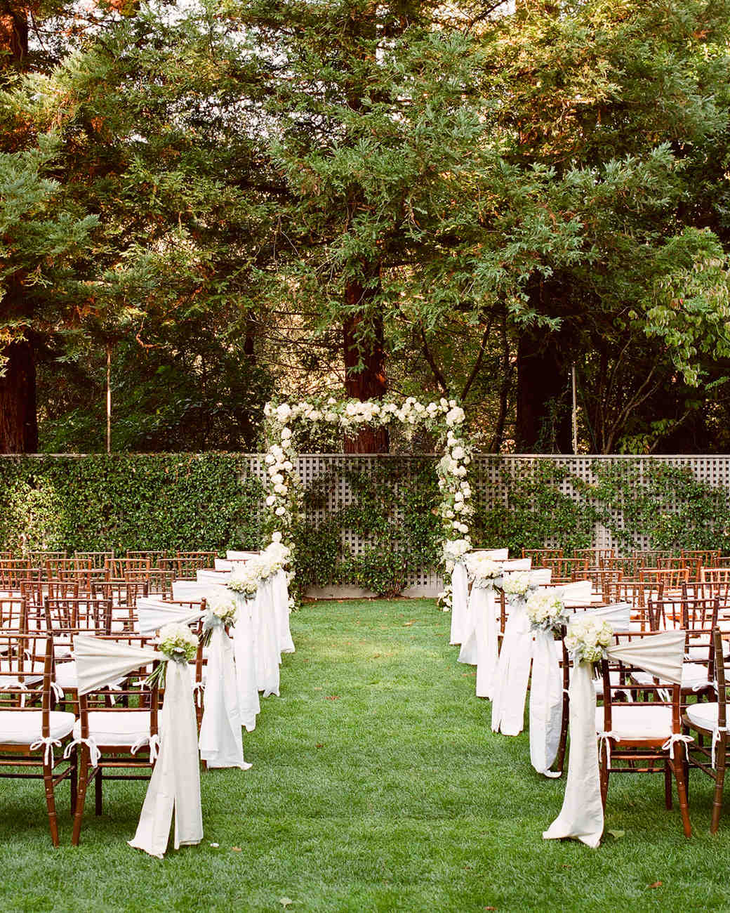 Cute Outdoor Wedding Ideas: A Formal Outdoor Destination Wedding In Napa, California