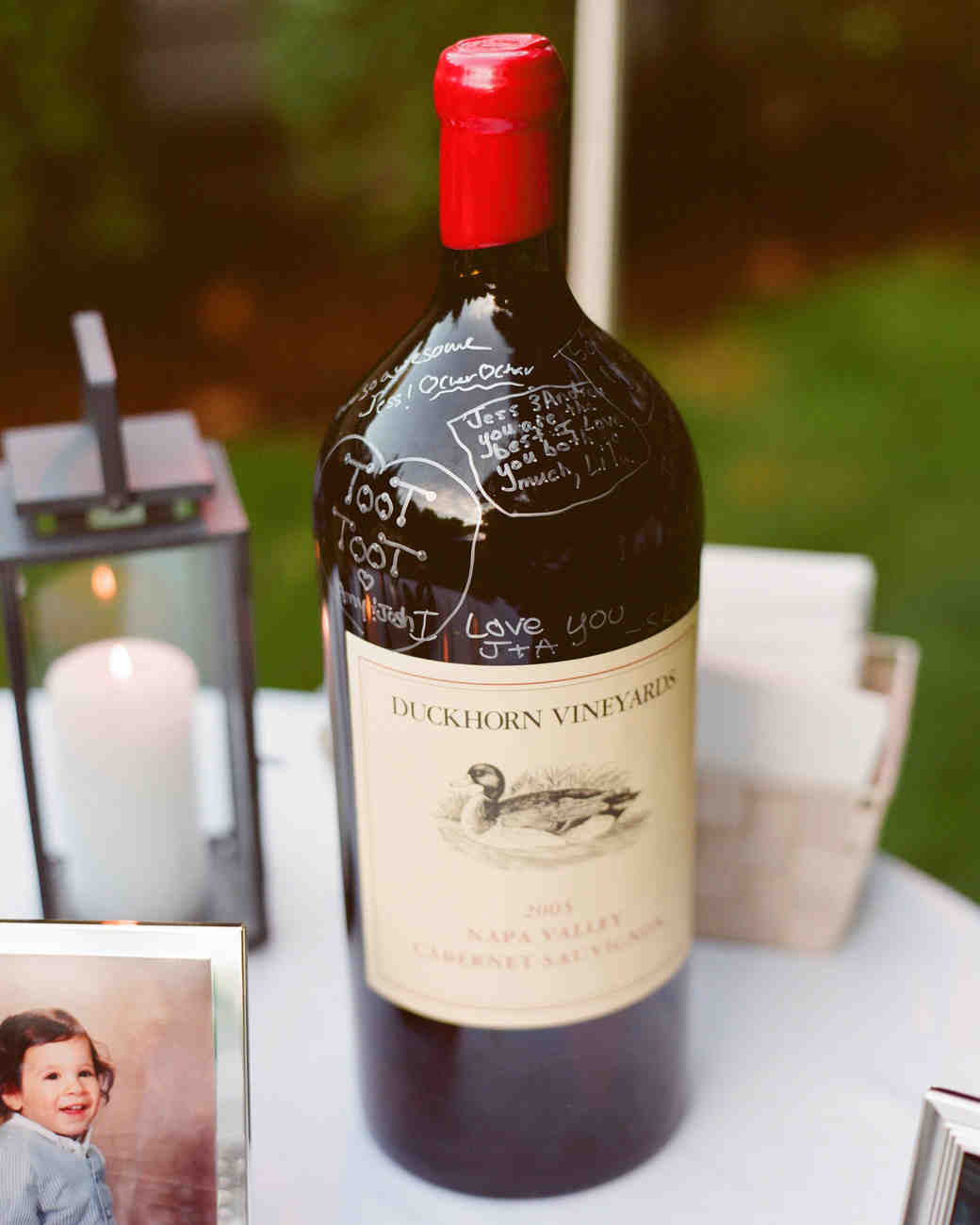 wine wedding guest book