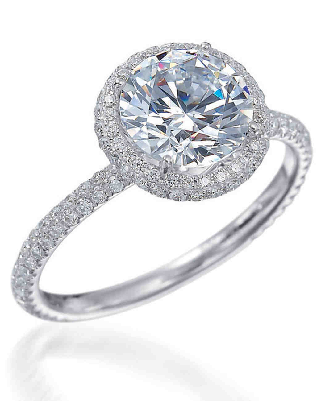 Round-Cut Diamond Engagement Rings | Martha Stewart Weddings