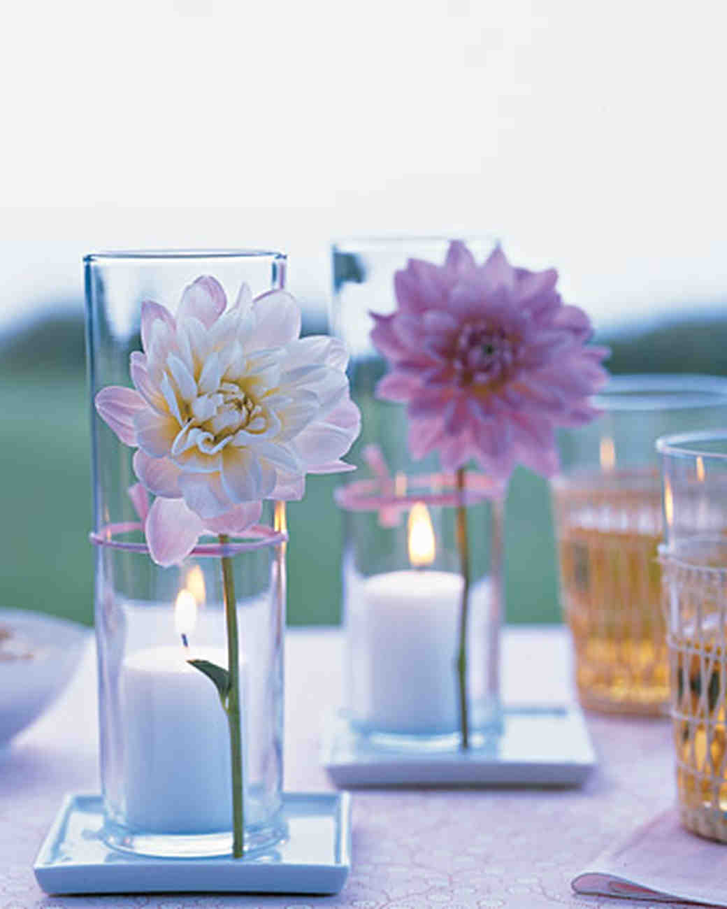 Flower Stem and Votive Centerpiece