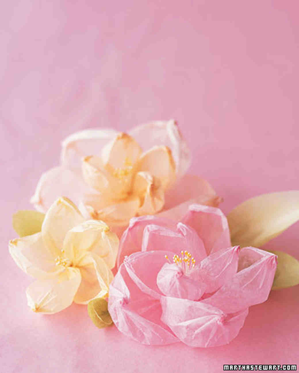 How To Make Paper And Fabric Flowers For Your Wedding Martha