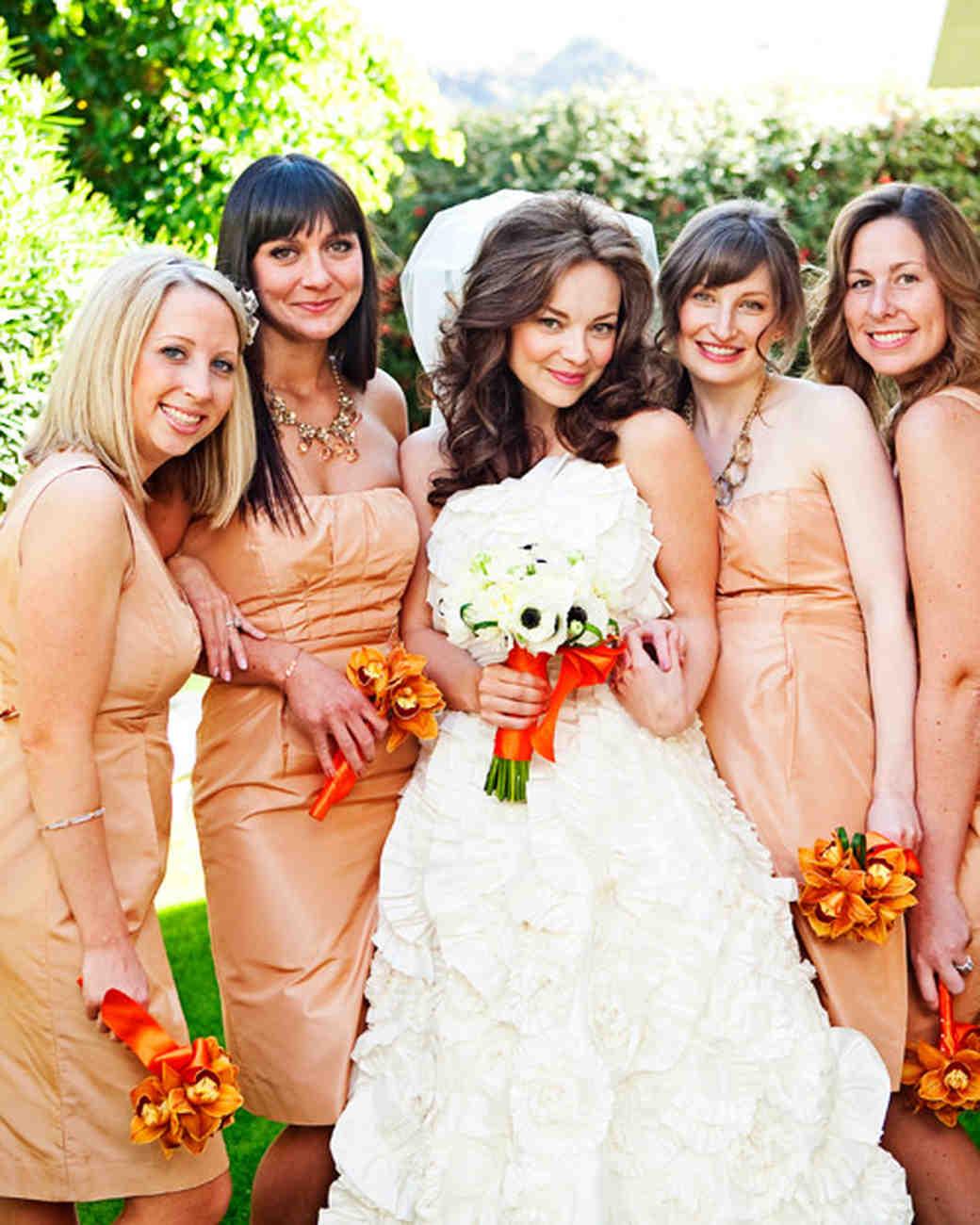 A modern peach colored wedding in california martha stewart weddings ombrellifo Gallery