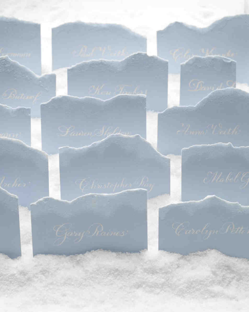 Snow-Themed Escort Cards