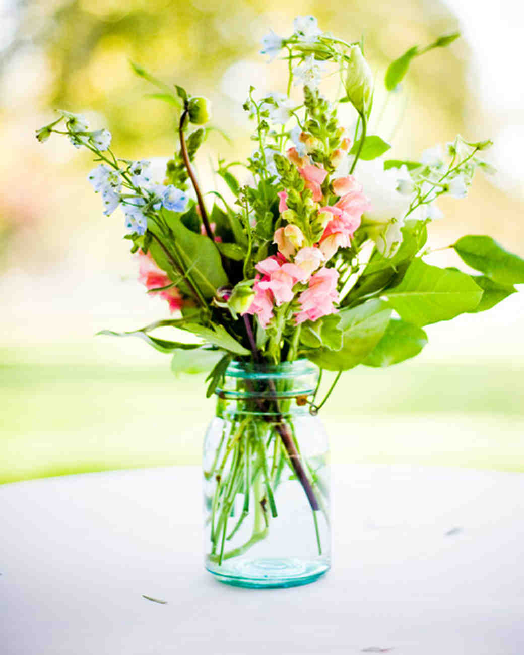 39 simple wedding centerpieces martha stewart weddings simple wedding centerpiece junglespirit Choice Image