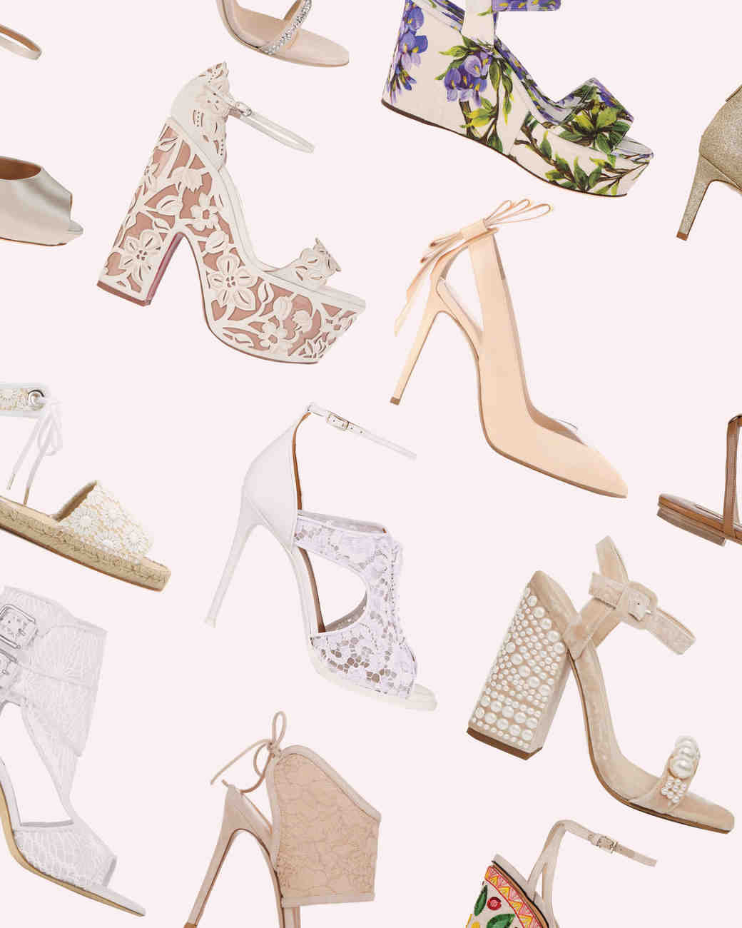 50 Best Shoes For A Bride To Wear Summer Wedding Martha Weddings