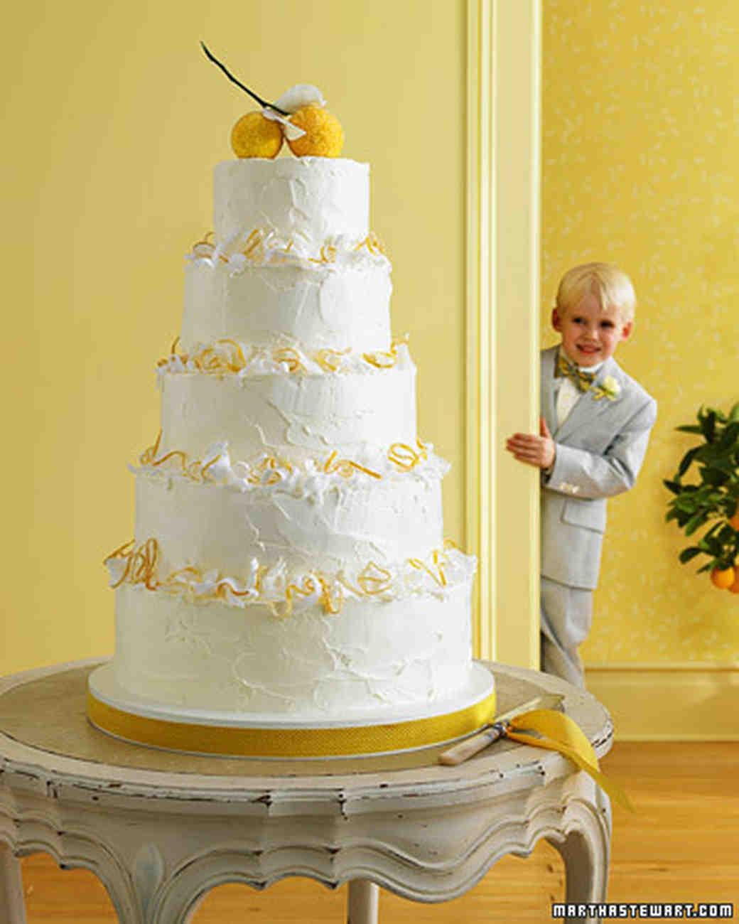 Meyer Lemon Wedding Cake