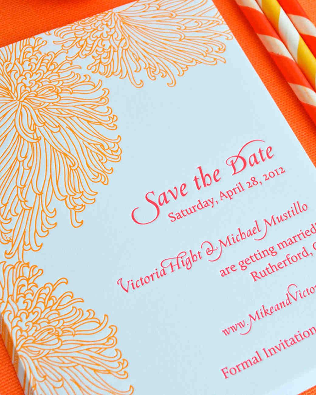 chrysanthemum save-the-date