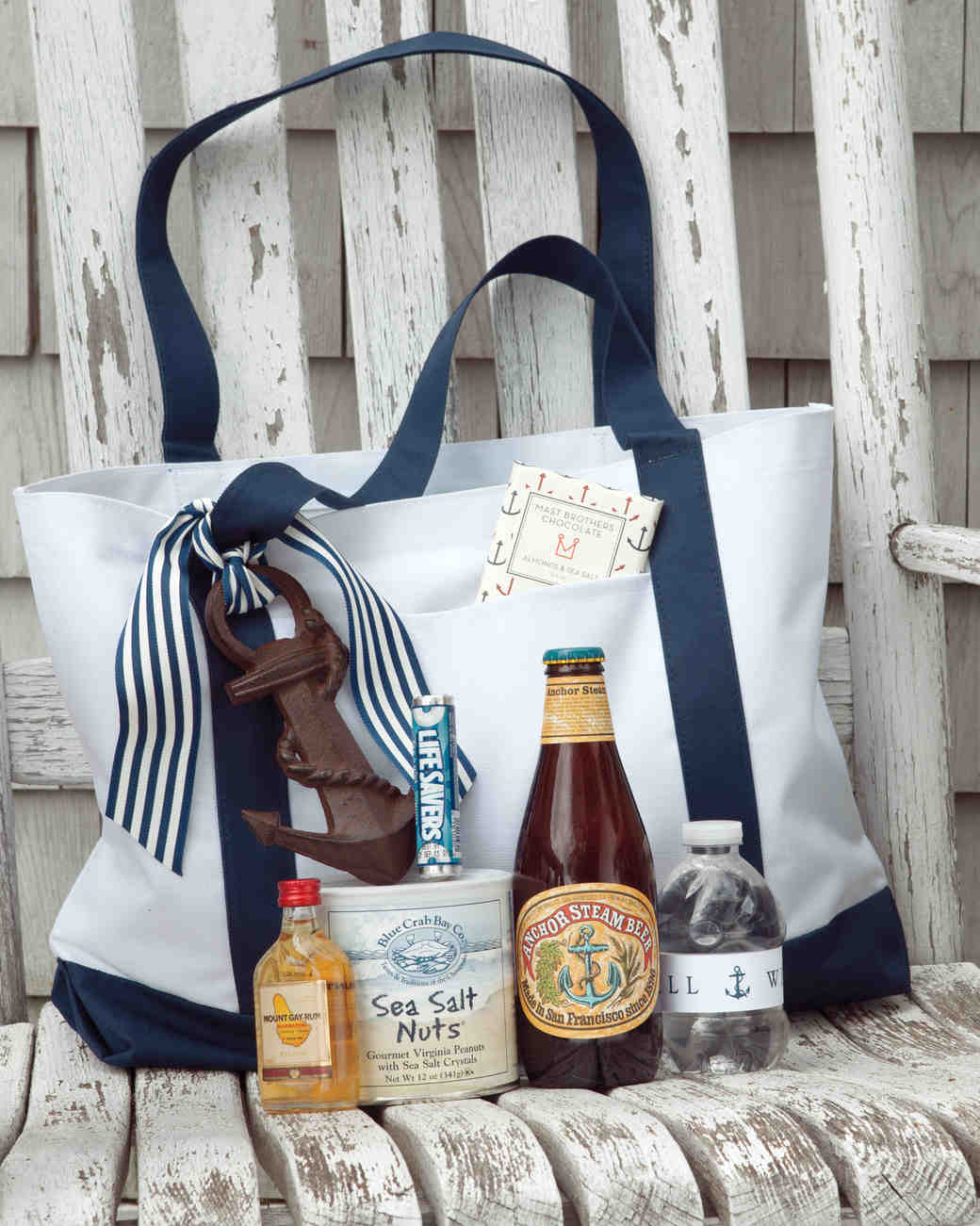 nautical welcome bag