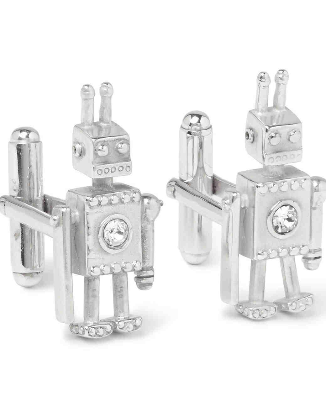 prada robot cufflinks