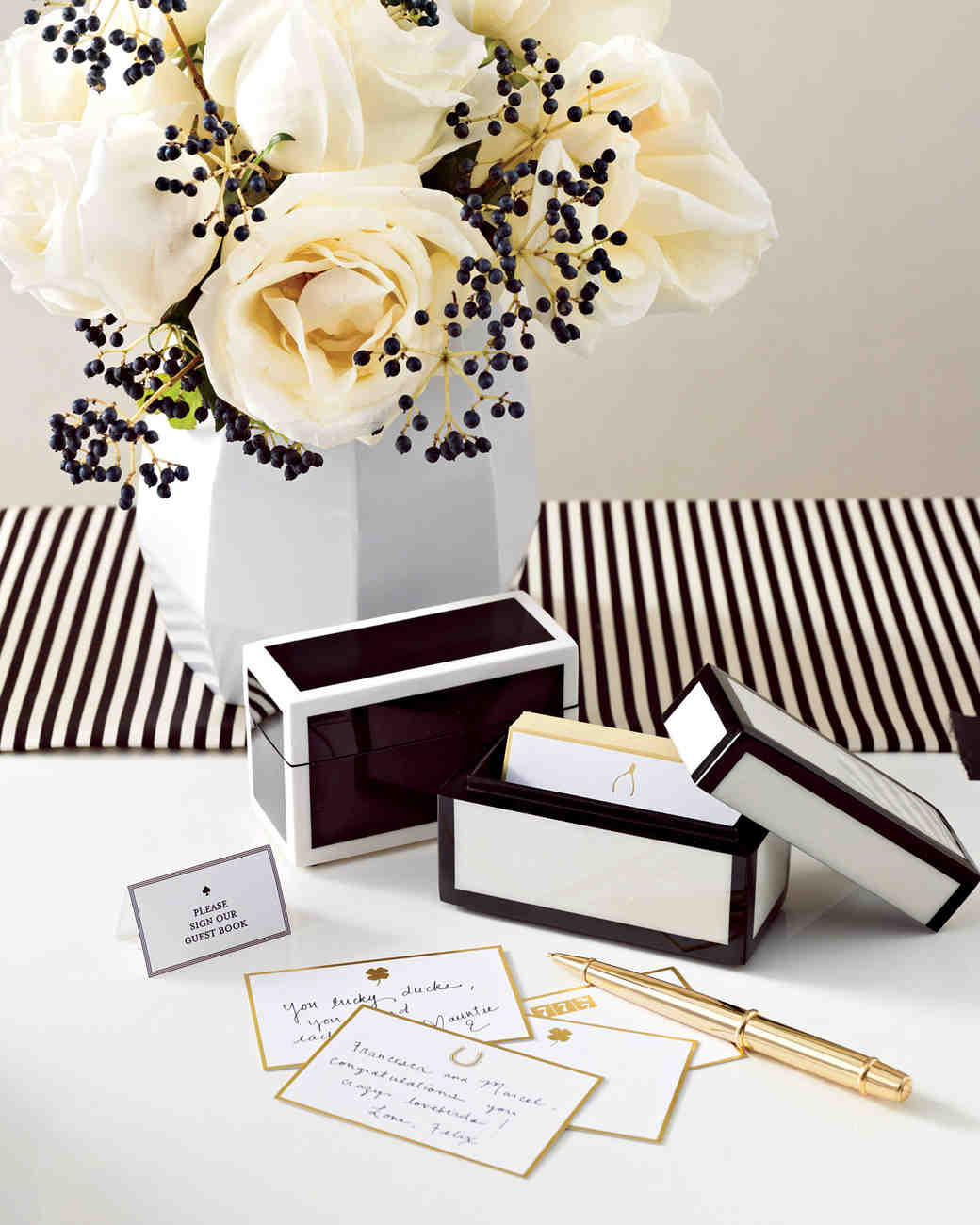 Wedding Colors Black White And Gold Martha Stewart Weddings
