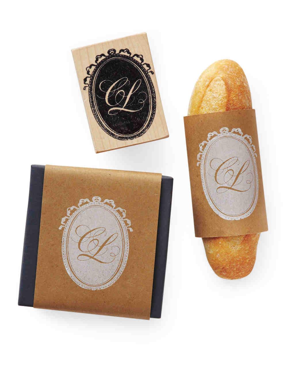Monogrammed Baguette Favors