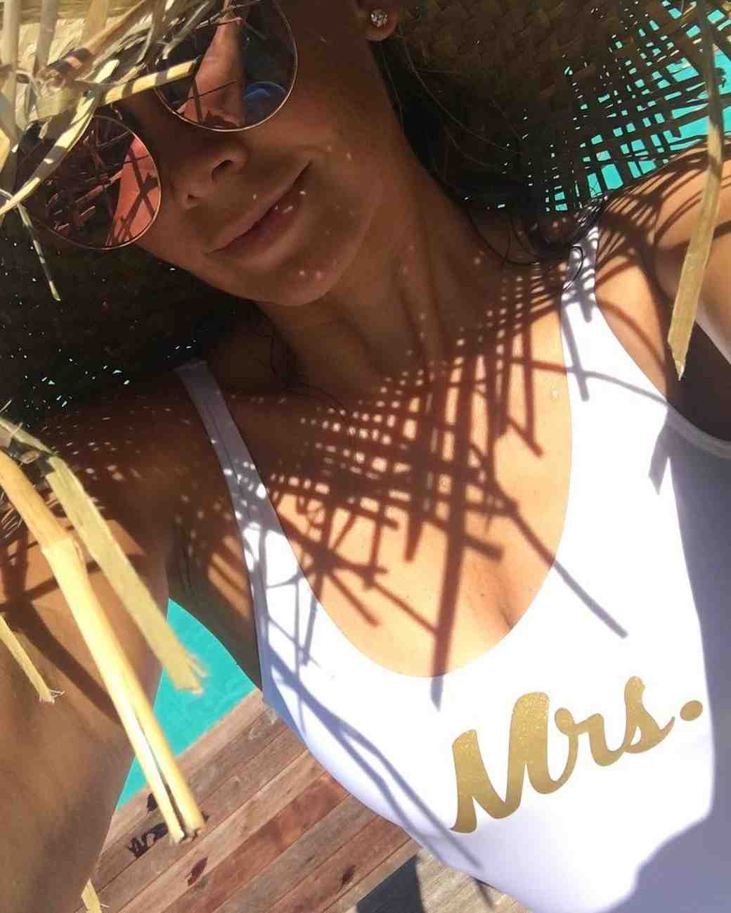 Kym Herjavec on Honeymoon in Bora Bora