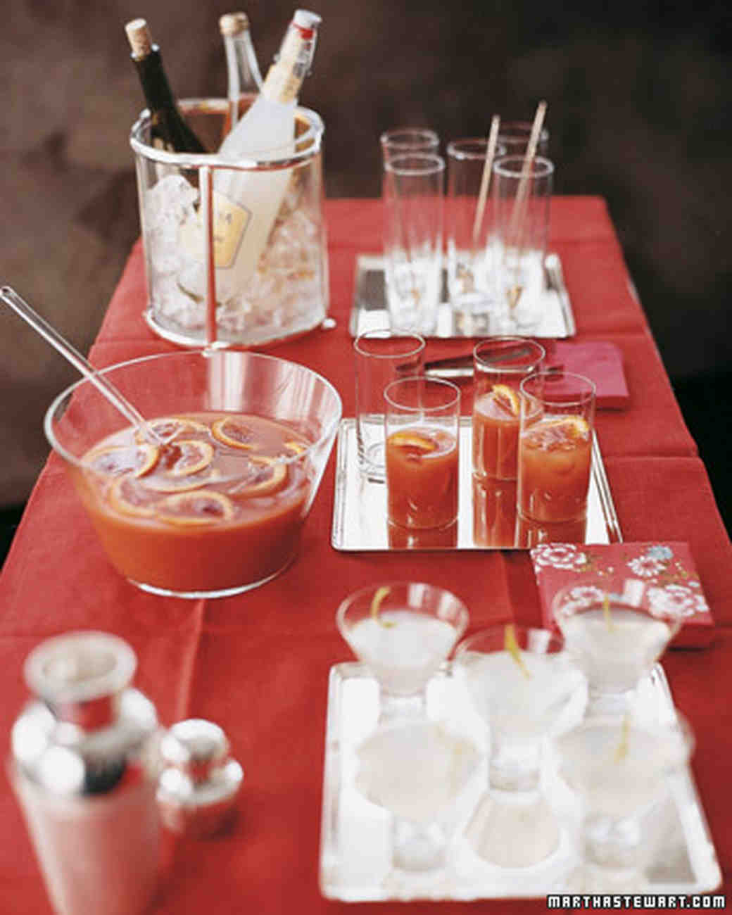 Cocktail Ideas For Parties Part - 28: 10 Big-Batch Cocktail Recipes For Your Engagement Party | Martha Stewart  Weddings