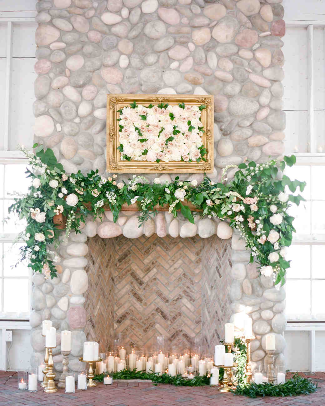 mantel with candles