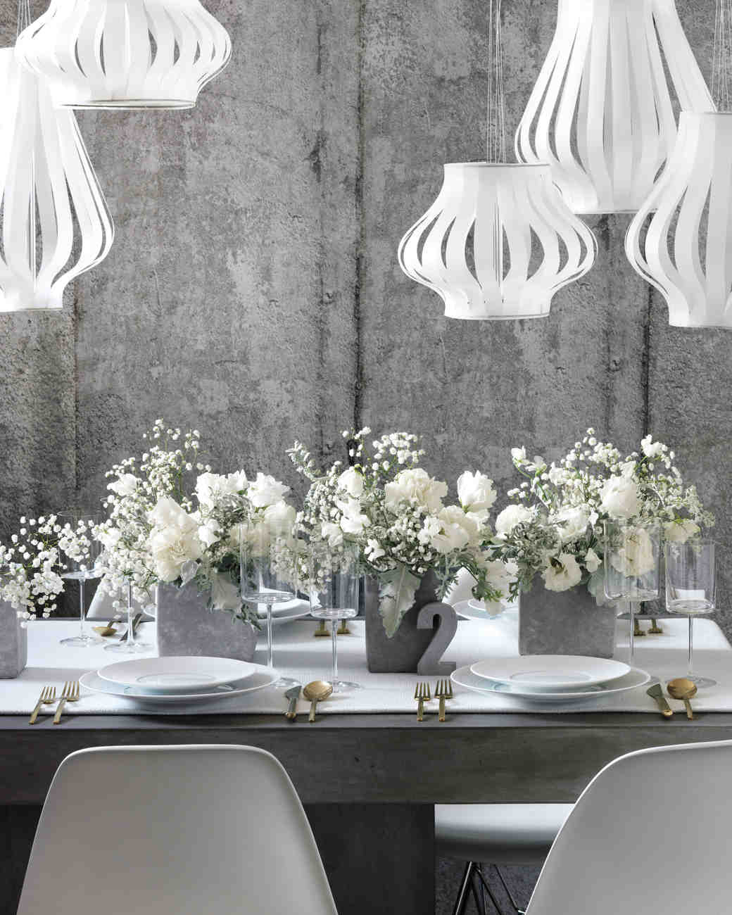Powder White And Shades Of Gray Are An Elegant Pairing For Your
