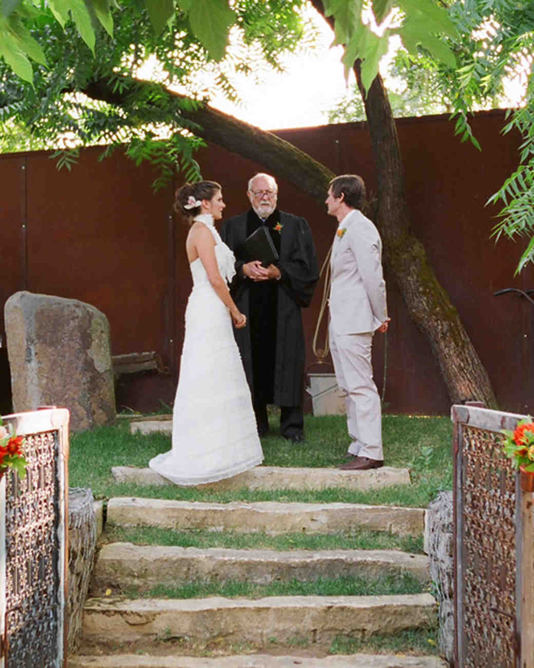 Grandfather Officiating Wedding