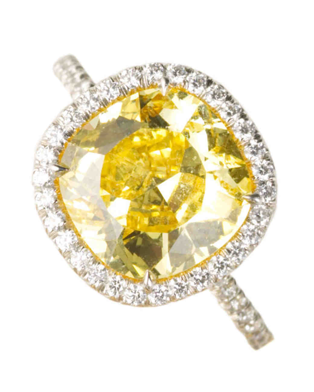 yellow diamond engagement rings martha stewart weddings - Yellow Diamond Wedding Rings